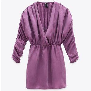 Zara Flowy Gathered Dress